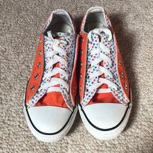 Girl's Sz 2 Double Layer Orange Converse